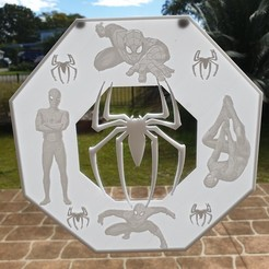 20200818_121536.jpg Download free STL file Spiderman lithophane window art • 3D printer design, CheesmondN