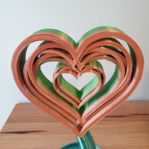 20200820_102038.jpg Télécharger fichier STL gratuit Support ou ornement pour casque d'écoute Love Hearts • Design pour imprimante 3D, CheesmondN