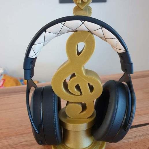20200630_080619.jpg Télécharger fichier STL gratuit Support pour écouteurs de musique • Plan à imprimer en 3D, CheesmondN
