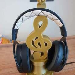 Télécharger fichier STL gratuit Support pour écouteurs de musique • Plan à imprimer en 3D, CheesmondN