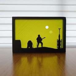 Download free STL file Star Wars Tatooine silhouette ornament • 3D printable design, CheesmondN