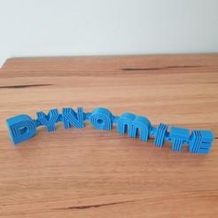 Download free STL file BTS Dynamite flexi ornament • 3D print model, CheesmondN
