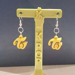 Download free 3D printing designs Twice earrings, CheesmondN