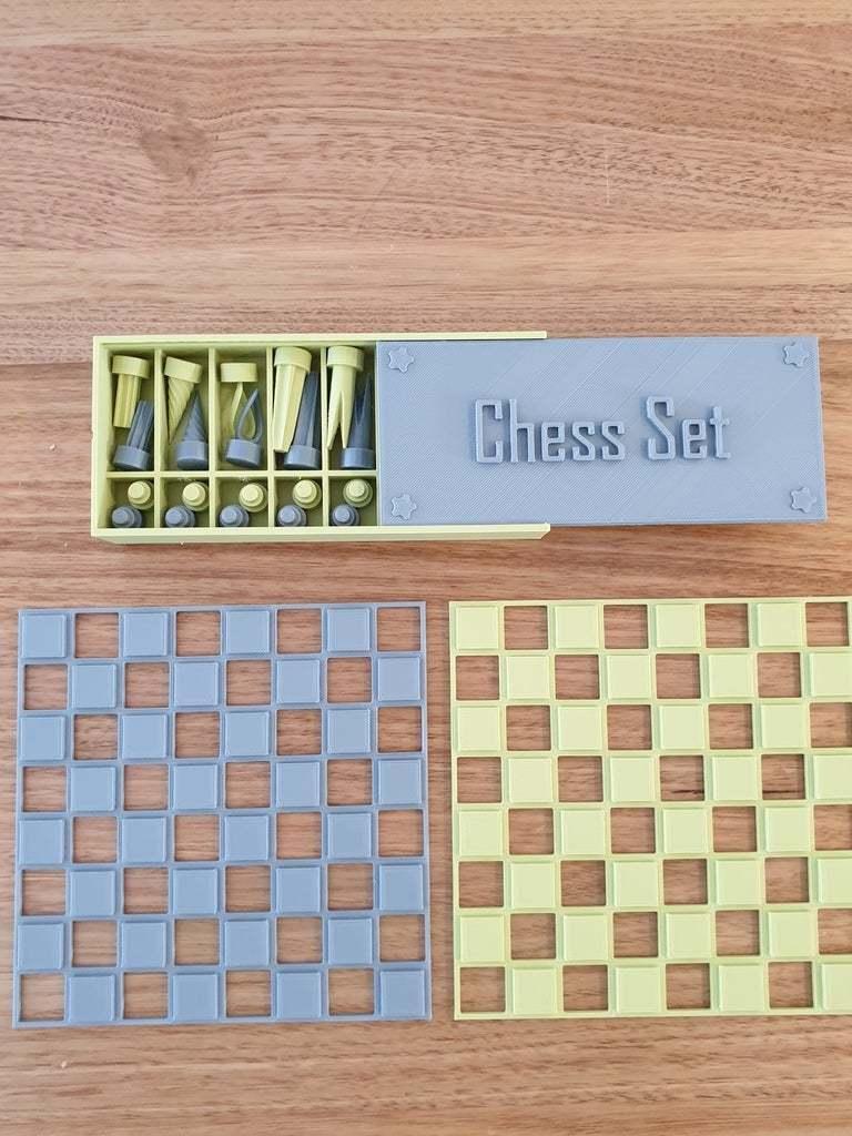 20200426_102056.jpg Download free STL file Chess set with storage box • 3D printing template, CheesmondN