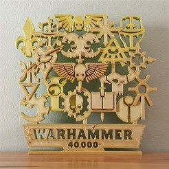 Download free STL file Warhammer 40K factions artwork ornament • 3D printer object, CheesmondN