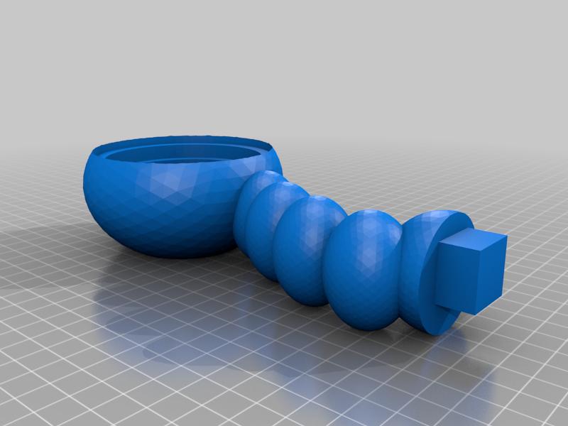 Bubble_top.png Télécharger fichier STL gratuit Support de casque à bulles • Modèle imprimable en 3D, CheesmondN