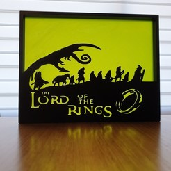 Download free STL file Lord of the rings silhouette art • 3D printable model, CheesmondN