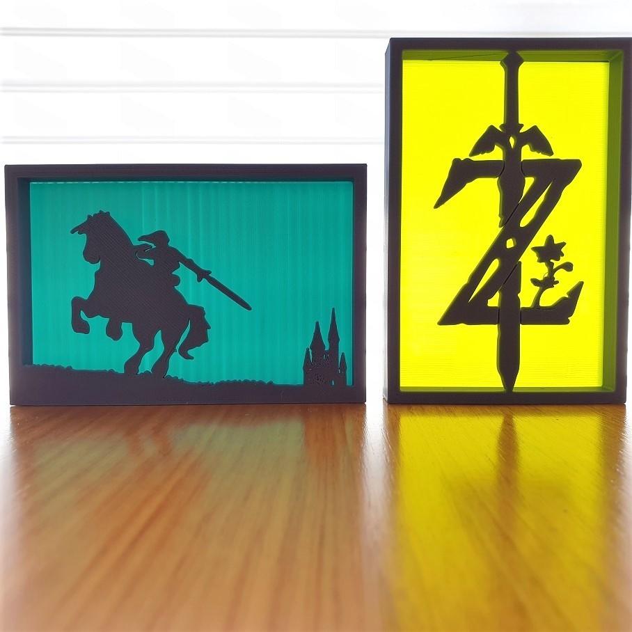 20200903_123000.jpg Télécharger fichier STL gratuit Ornements de silhouette Zelda • Plan imprimable en 3D, CheesmondN