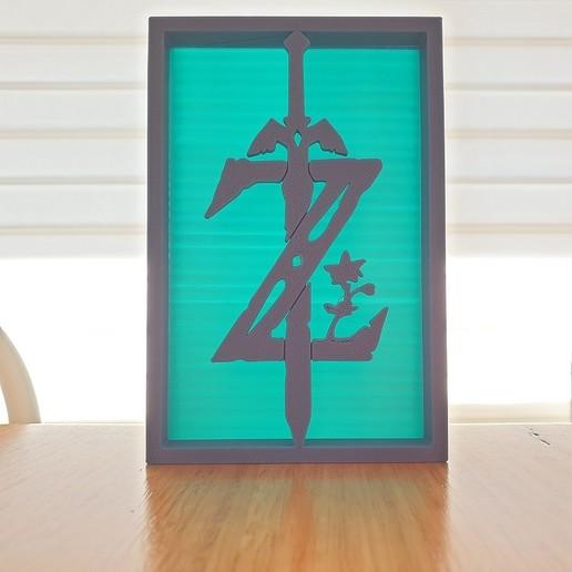 20200903_122532.jpg Télécharger fichier STL gratuit Ornements de silhouette Zelda • Plan imprimable en 3D, CheesmondN
