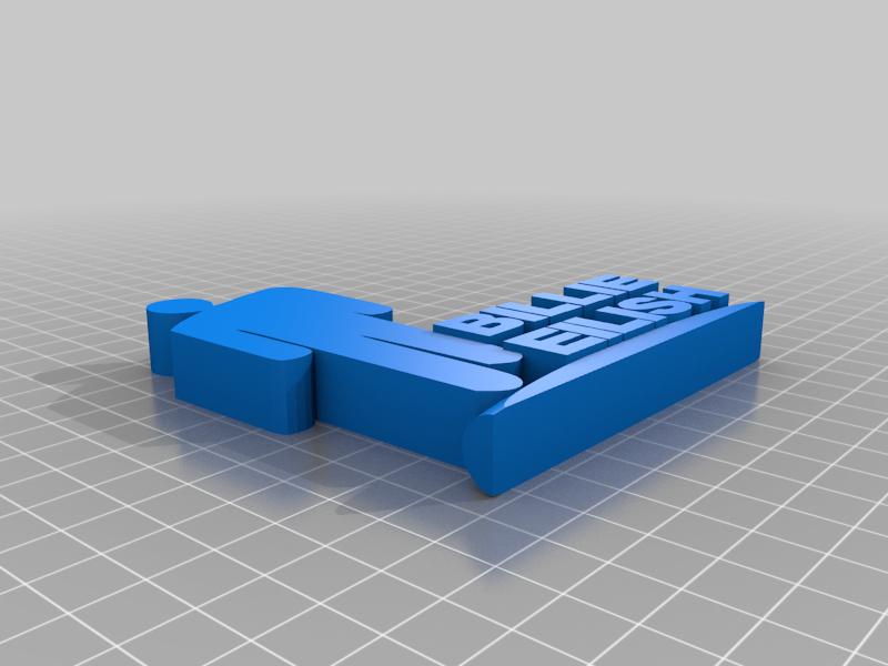 Billie_Eilish_Ornament.png Télécharger fichier STL gratuit Ornement de Billie Eilish • Modèle pour impression 3D, CheesmondN