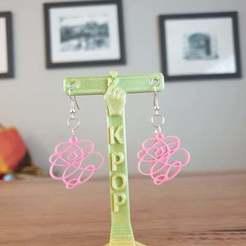 Download free 3D printer templates K-Pop earring display stand, CheesmondN