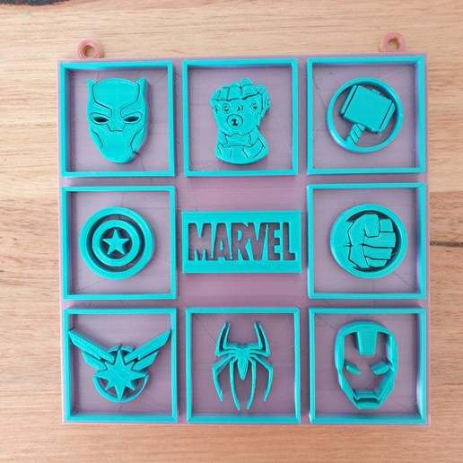 Download free STL file Marvel picture • 3D printer template, CheesmondN