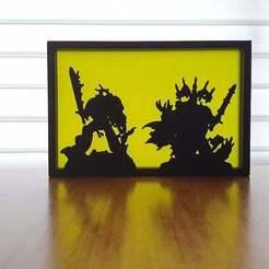 20200920_074520.jpg Download free STL file Warhammer silhouette art • 3D printing object, CheesmondN