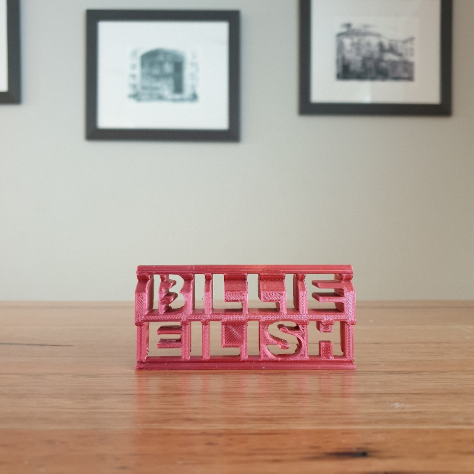20200808_082512.png Télécharger fichier STL gratuit Billie Eilish 3d flip ornament • Design pour imprimante 3D, CheesmondN