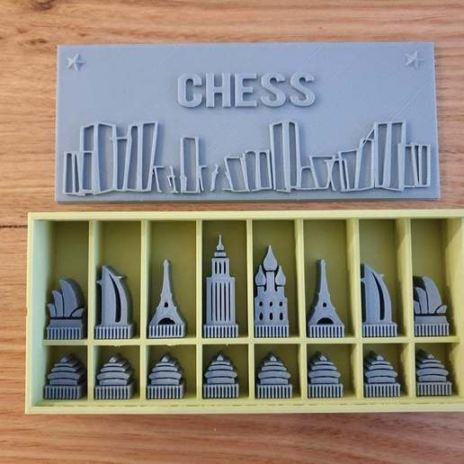 Download free STL file Architecture Chess Set • 3D printing object, CheesmondN