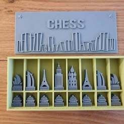 Download free STL files Architecture Chess Set, CheesmondN