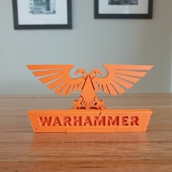 Download free STL file Warhammer 40K phone stand • Object to 3D print, CheesmondN