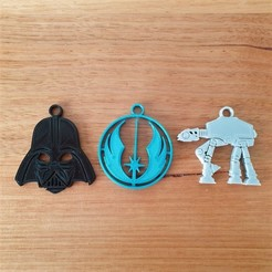 Download free STL file Star Wars Keyrings Keychains • 3D print template, CheesmondN