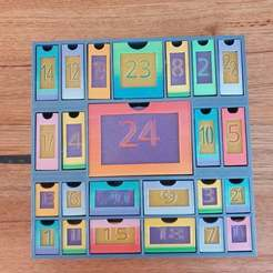 20200624_081048.jpg Download free STL file Xmas Advent calendar • Design to 3D print, CheesmondN