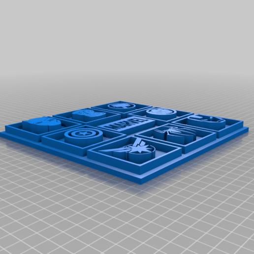 Marvel_Picture.png Télécharger fichier STL gratuit Photo Marvel • Modèle pour imprimante 3D, CheesmondN