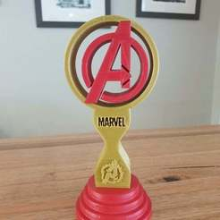 Download free 3D print files Avengers Headphone Stand or Trophy, CheesmondN