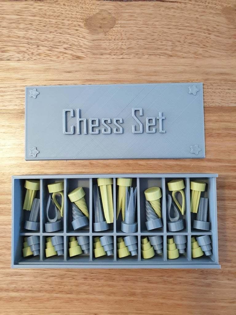 20200425_110755.jpg Download free STL file Chess set with storage box • 3D printing template, CheesmondN