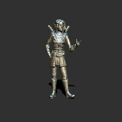 1.jpg Download STL file Elf rogue female two swords • 3D printer template, ArtTavern