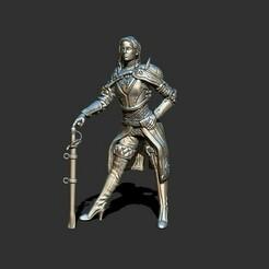 3.jpg Download STL file Warrior female human duelist • 3D print object, ArtTavern