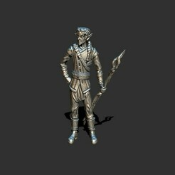 1.jpg Download STL file Elf wizard with staff • 3D printable design, ArtTavern