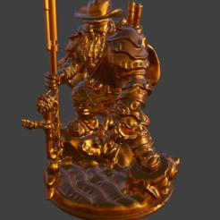 5.PNG Download free STL file Dwarf with a gun • 3D printing design, ArtTavern