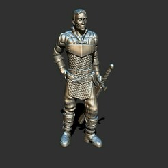 2.jpg Download STL file Human warrior • 3D printer template, ArtTavern