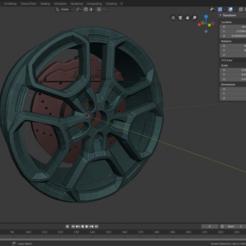 preview 1.png Télécharger fichier OBJ Roues Lamborghini avec étriers marqués • Modèle à imprimer en 3D, Gmeiser