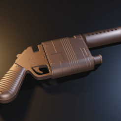 Download 3D printing models Star Wars - Rey Blaster pistol - STL files for 3D printing, Fralans3D
