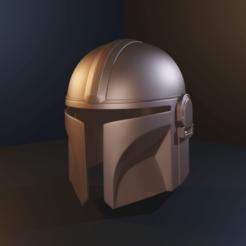 Download 3D print files The Mandalorian Beskar Helmet , Fralans3D