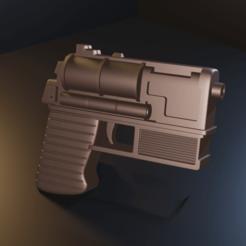 untitled5.png Download STL file Star Wars - Mara Jade blaster pistol - STL files for 3D printing • 3D print design, Fralans3D