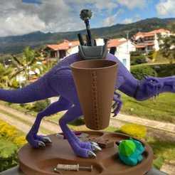 Télécharger fichier STL Porte stylos organiseur de bureau Dinosaure • Objet imprimable en 3D, lMolotov