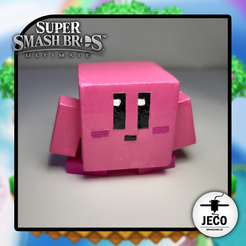 KirbySteve.png Download STL file Kirby Square Super Smash Bros Ultimate • 3D printer object, JECO3D