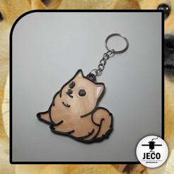 doggo.png Download STL file Doggo Meme Keychain • 3D print model, JECO3D