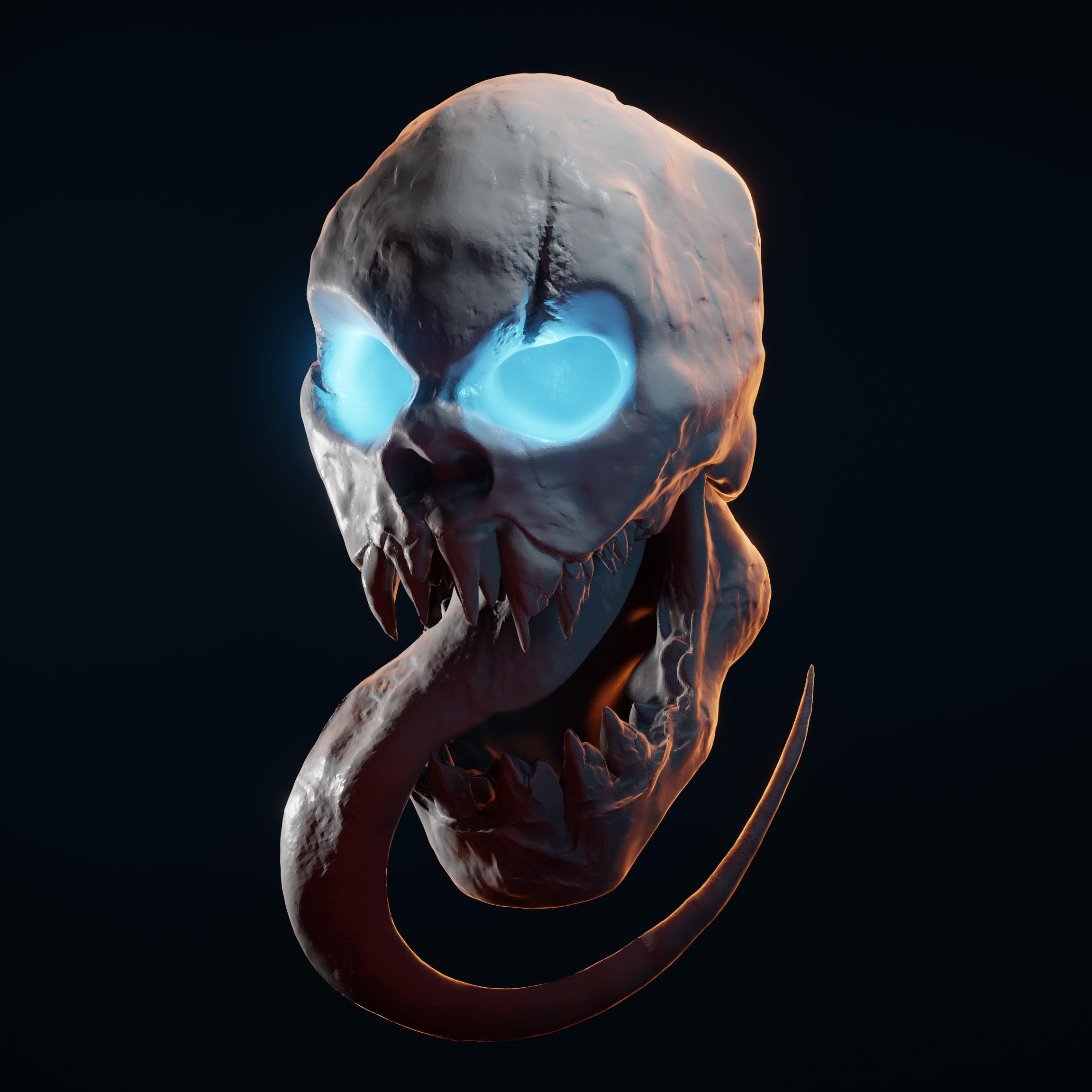 Spectral.jpg Download STL file Skull Spectral 3D Stl • 3D print object, manueldx95