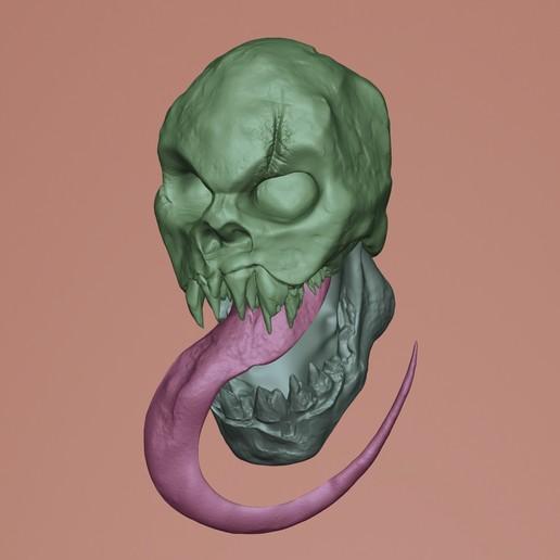 workb_IG.jpg Download STL file Skull Spectral 3D Stl • 3D print object, manueldx95
