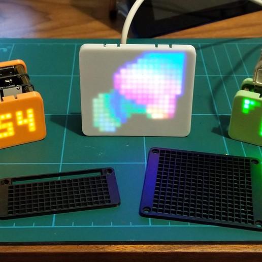 Télécharger fichier STL gratuit Diffuseurs pour Pimoroni Unicorn Hat HD et Scroll Phat HD • Plan à imprimer en 3D, ali1234