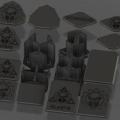 Download free 3D printer files Apocalypse Token Organizers, Jepod