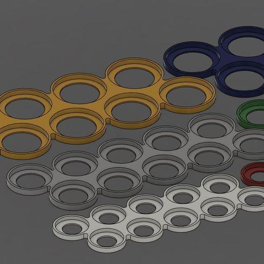 Télécharger fichier STL gratuit Plateaux du mouvement des jeux de guerre • Plan pour impression 3D, Jepod
