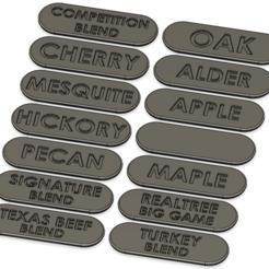 Télécharger fichier STL gratuit Étiquettes de granulés de bois • Plan à imprimer en 3D, Jepod