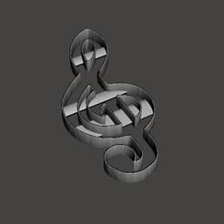 Télécharger modèle 3D PAQUET X3 NOTES DE MUSIQUE EMPORTE-PIÈCE, martinzotti