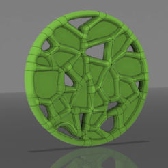 pendant_ v1.png Download STL file voronoi pendant • 3D printable object, chrysalis3rddimension