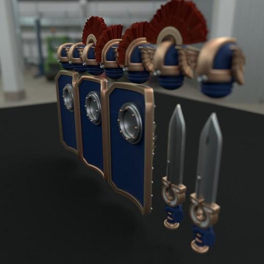 cultspack3.jpg Download STL file Ultra Chapter Bladeguard/Terminator upgrade set • 3D printer design, vb2341