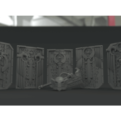 inv_shields.png Download free STL file Ultra Chapter Bullet Sponges (shields) • Object to 3D print, vb2341