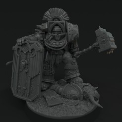 gorodc1.jpg Download free STL file Drakus Gorod- Captain of the Invictarii • 3D print template, vb2341