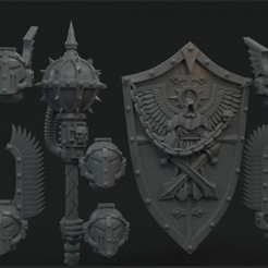 cults_pack_preview.jpg Download STL file Gloomy Angels bladeguard/terminator upgrade pack • 3D print object, vb2341